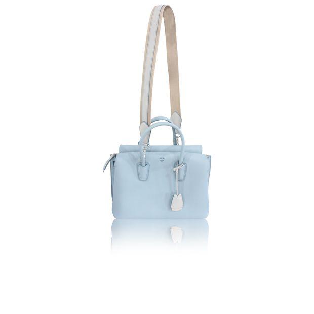 9b8c44602641 MCM Milla Light Blue Leather Cross Body Bag 0 thumbnail