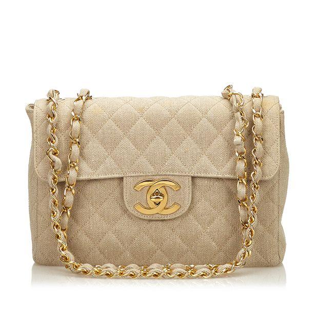 f70e71a2d273 Jumbo Matelasse Denim Flap Bag by CHANEL | StyleTribute.com