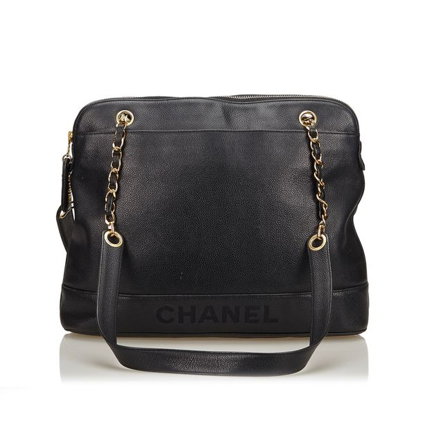 31252e78817d Leather Chain Shoulder Bag by CHANEL