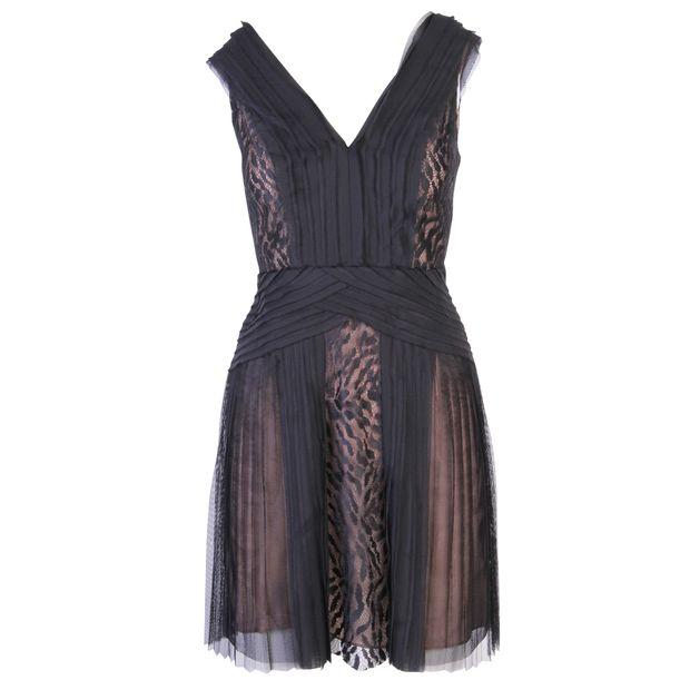 cf2a7d3b910 BCBGMAXAZRIA Black Lace V Neck Dress 0 thumbnail