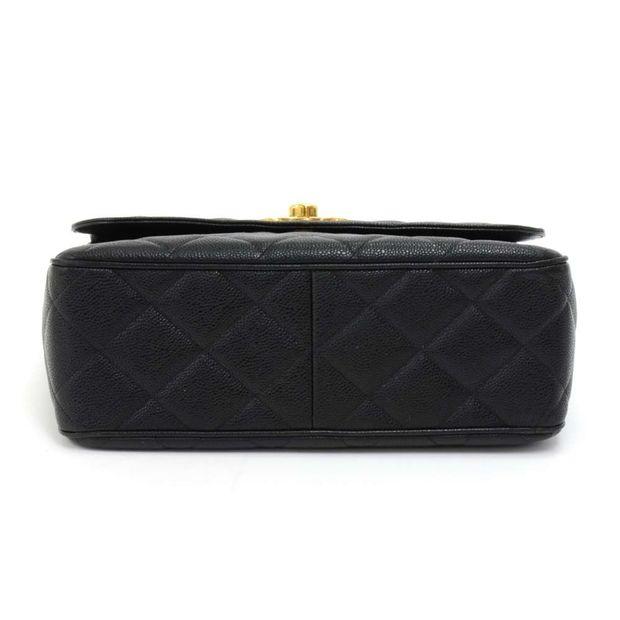 5c99240c2cf2 CHANEL Vintage Chanel Large Black Quilted Caviar Leather Flap Shoulder Bag  1 thumbnail