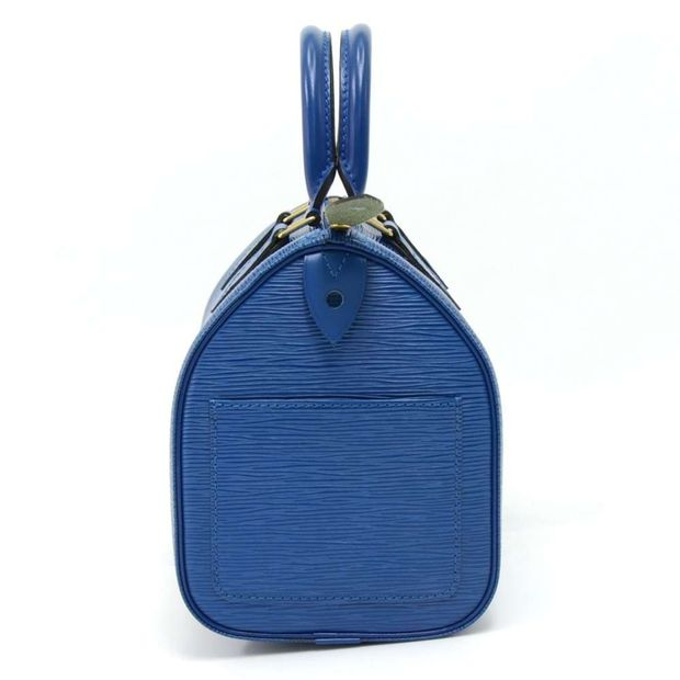 0c76eec29b26 LOUIS VUITTON Vintage Louis Vuitton Speedy 25 Blue Epi Leather City Hand  Bag 1 thumbnail