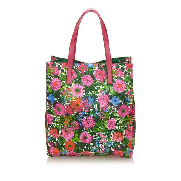 425eef8dc458 PRADA Tessuto Stampato Nylon Tote Bag 2 thumbnail