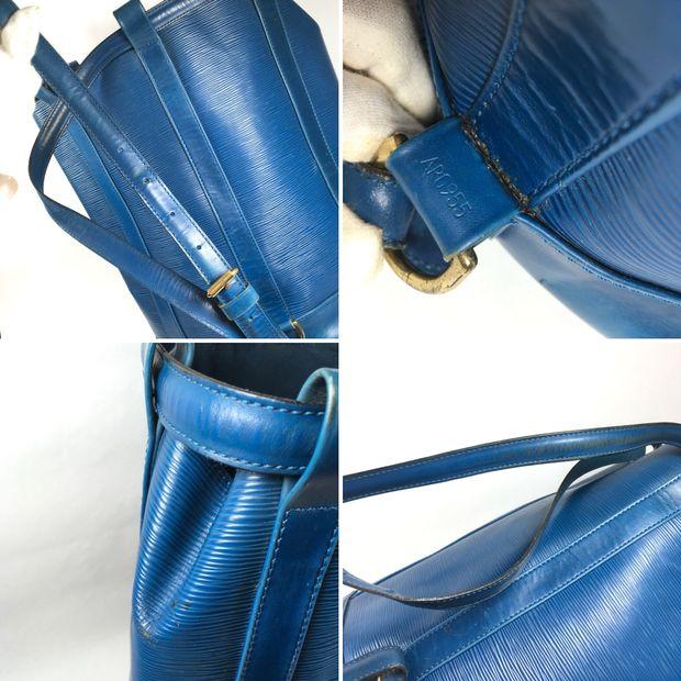 68447618434d LOUIS VUITTON Blue Epi Leather Randonnée Backpack 3 thumbnail