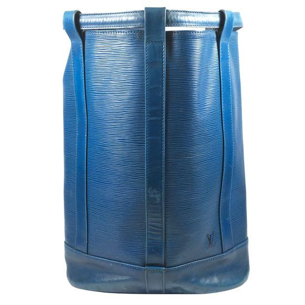 157f01b466ac Blue Epi Leather Randonnée Backpack by LOUIS VUITTON