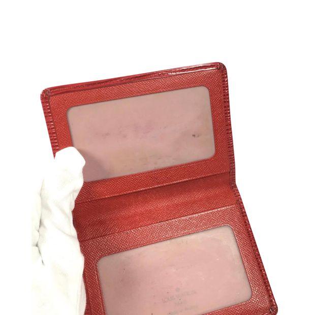 b7951ca23b6b LOUIS VUITTON Red Epi Card Holder 5 thumbnail