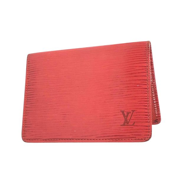 a6a6fca9d3ab Red Epi Card Holder by LOUIS VUITTON