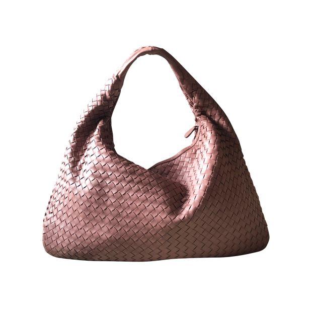 Intrecciato Na Leather Large Veneta Hobo Bag