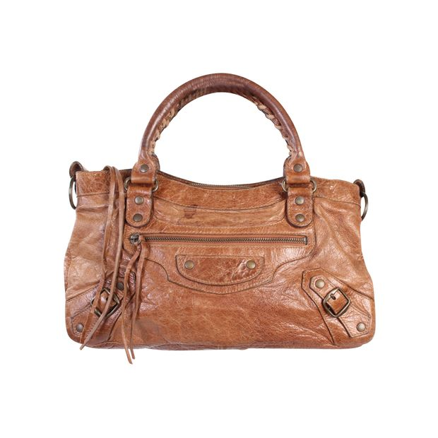 f9d539ff953c Brown Leather Motocross Classic First by BALENCIAGA