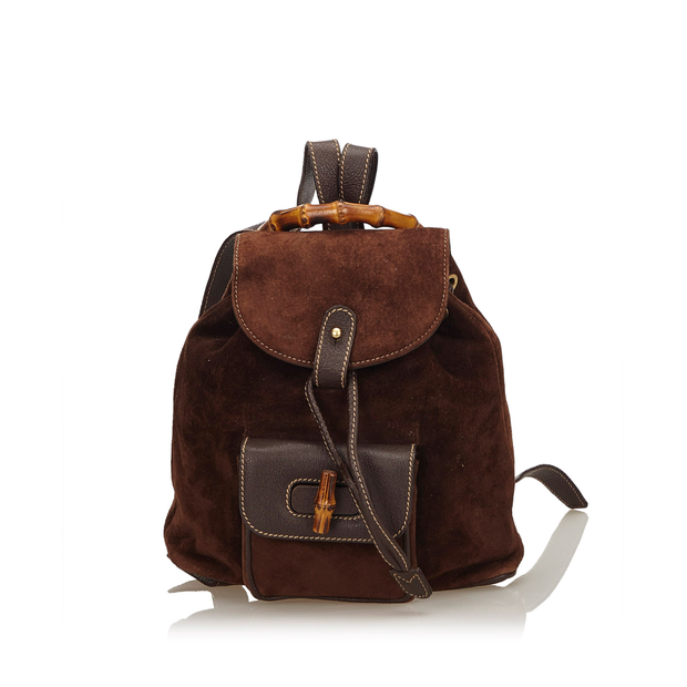 345d8df72d97 Bamboo Suede Drawstring Backpack by GUCCI | StyleTribute.com