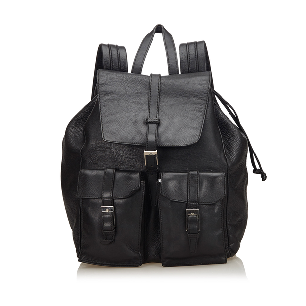 de34090a2db2 Leather Drawstring Backpack by GUCCI | StyleTribute.com
