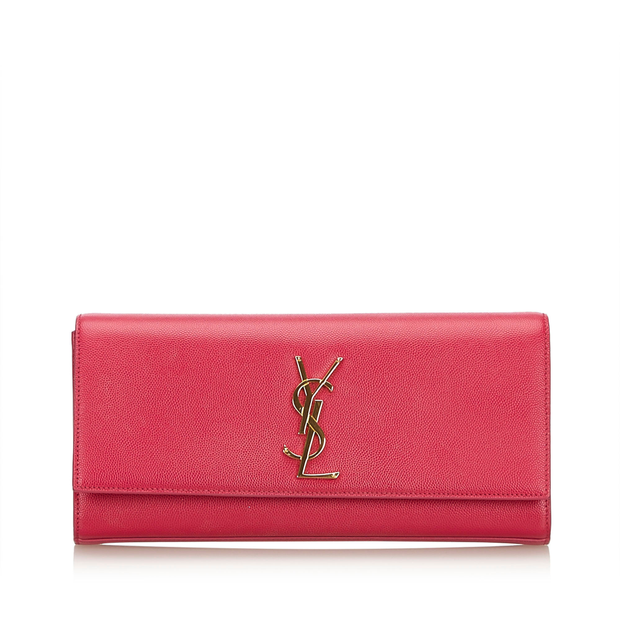 e5747bf5ad4 Monogram Kate Clutch Bag by YVES SAINT LAURENT | StyleTribute.com