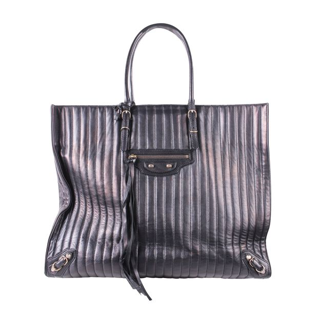 c3ee9e39213 Papier A4 Quilted Leather Bag by BALENCIAGA   StyleTribute.com