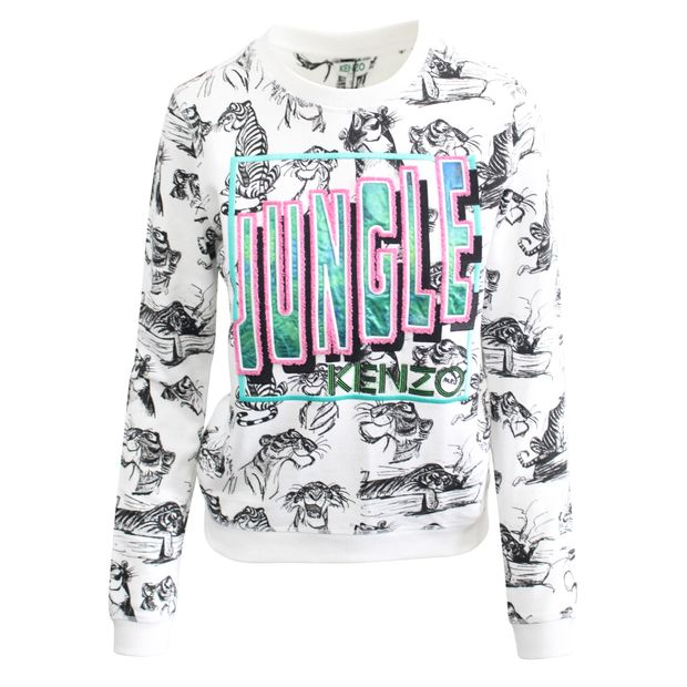 62dc7069 Jungle Book Pattern Sweat Shirt by KENZO | StyleTribute.com