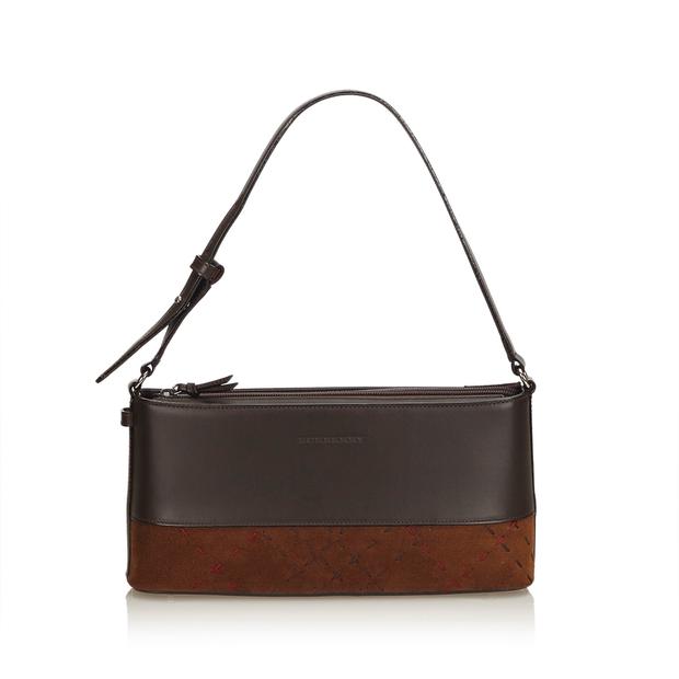 169d04fc7d5e Leather Baguette by BURBERRY