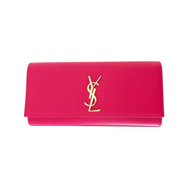 official supplier crazy price good service Kate Fushia Leather Clutch