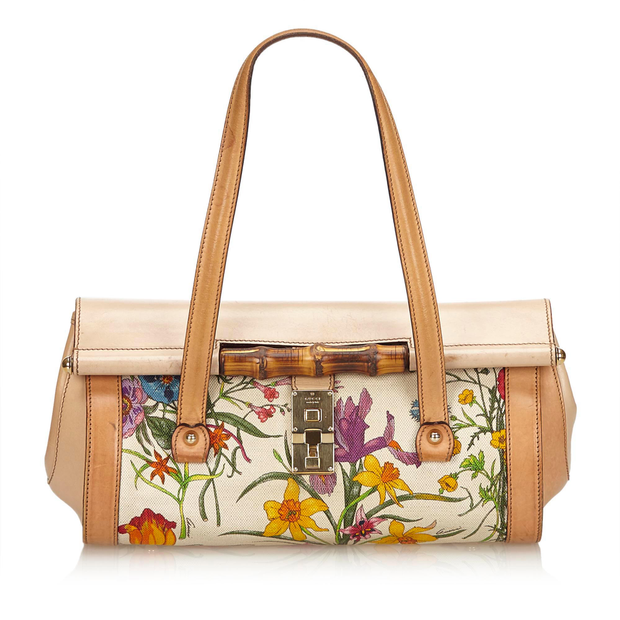a4aec9807e6 Canvas Bamboo Bullet Bag by GUCCI