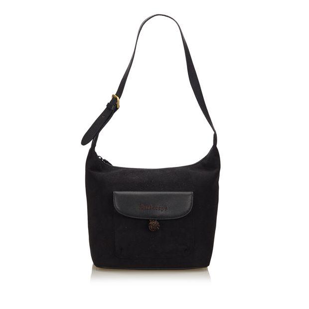 e8fcf279de54 Suede Shoulder Bag by BURBERRY