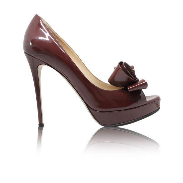497eb90da87 Brown Couture Bow Peep Toe Pump by VALENTINO