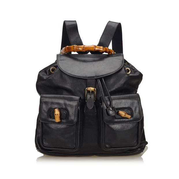 ecc3d3028916 Bamboo Leather Drawstring Backpack by GUCCI | StyleTribute.com