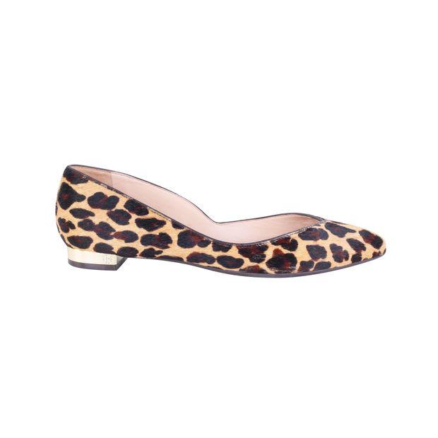 288b8608b058 Nicki Flat in Leopard Print Haircalf by TORY BURCH