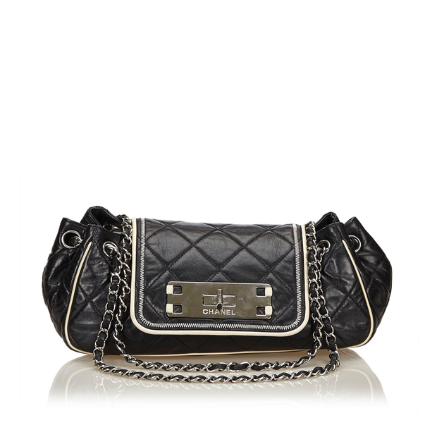 5e3fcae49b05 Leather East West Chain Flap by CHANEL