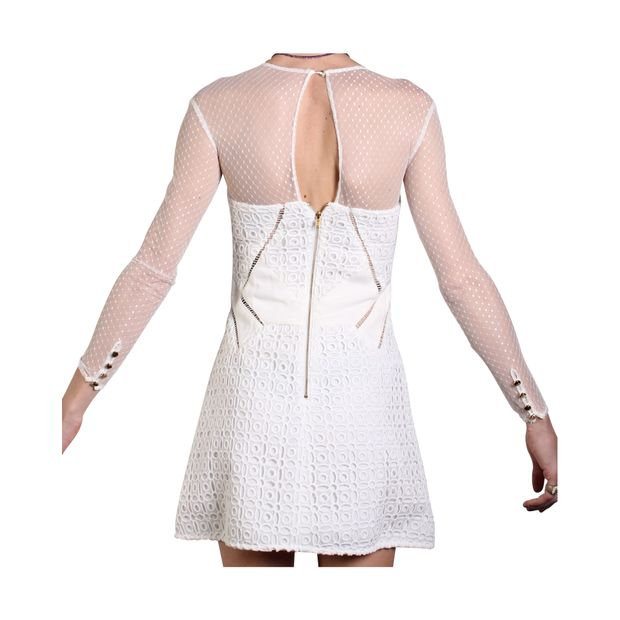 b13f40bd1e10d Off White Lace Mini Dress by SELF-PORTRAIT | StyleTribute.com