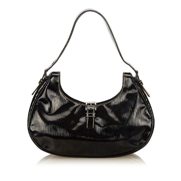 5a669e7beab0 Patent Leather Shoulder Bag by PRADA   StyleTribute.com
