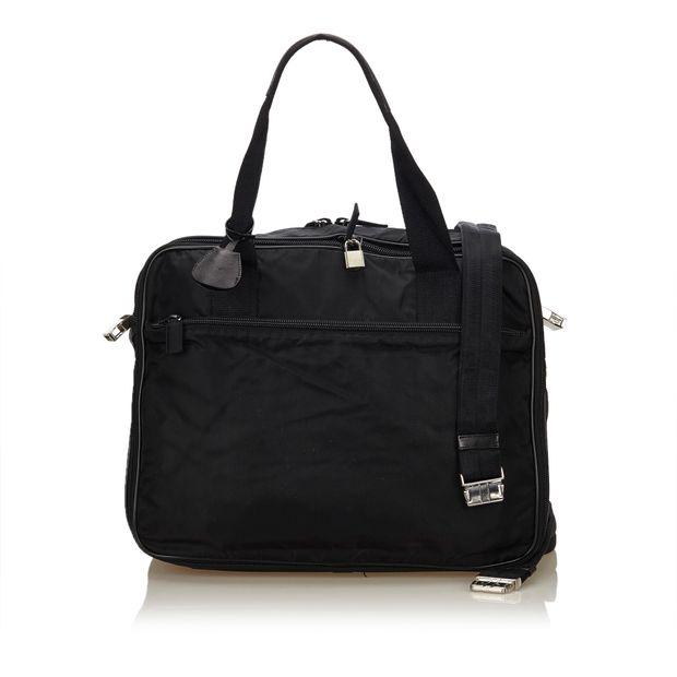 efb4cc3391d7 Nylon Briefcase by PRADA | StyleTribute.com