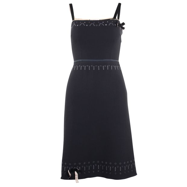 7d511a3d502 PRADA Strap Wool Dress 0 thumbnail