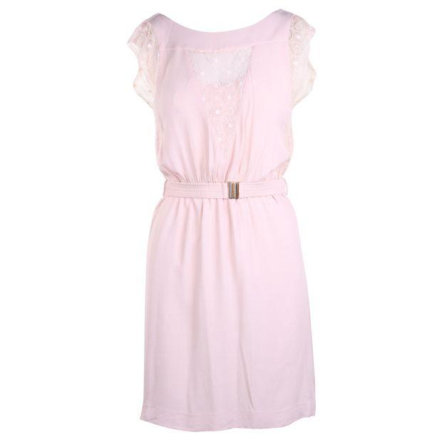 077a790a1458 SANDRO Embellished Pastel Pink Dress 0 thumbnail