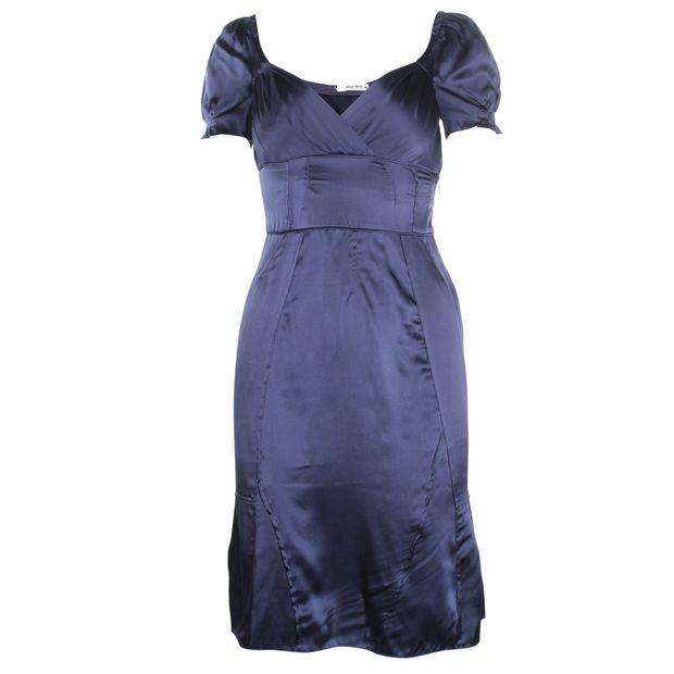 MIU MIU Navy Silk Dress 0 thumbnail 351672775710a