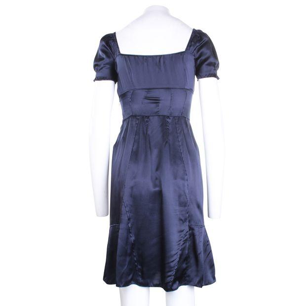 590b8edc2528a MIU MIU Navy Silk Dress 2 thumbnail