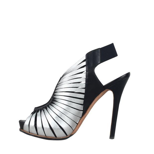 37f20533a8740 ALEXANDER MCQUEEN Sandals Black Leather Schutz Cutout 0 thumbnail