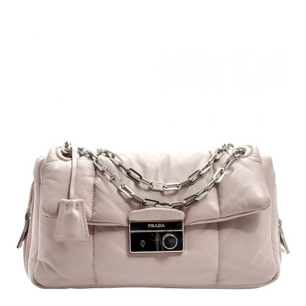e19dfab737343d Nappa Bomber Shoulder Bag by PRADA | StyleTribute.com