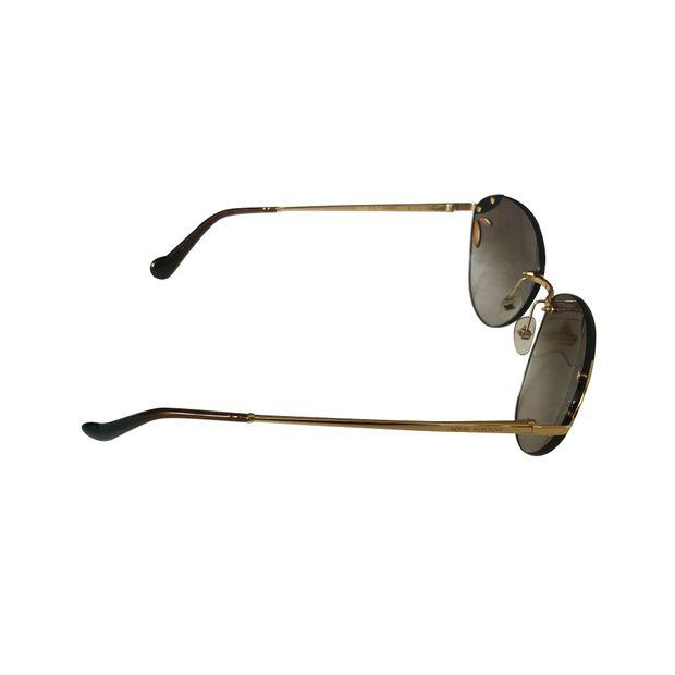 e474729ca0a LOUIS VUITTON Louis Vuitton Z0728U Light Brown Sunglasses for Women ...