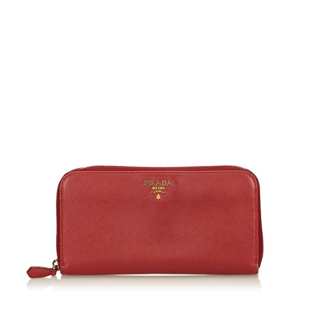 7ee92a227c88b7 Saffiano Leather Long Wallet by PRADA | StyleTribute.com
