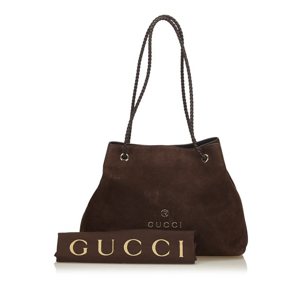 d591a1eb0d7 Nubuck Leather Tote Bag by GUCCI