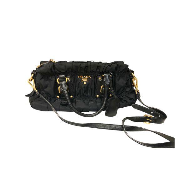 80663b539a79 Tessuto Gaufre Satchel Bag by PRADA | StyleTribute.com
