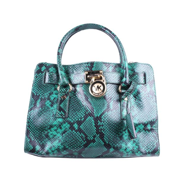 Green Bag Leather Green Python Hamilton Python Leather Hamilton Green Hamilton Bag OPkXZiTu