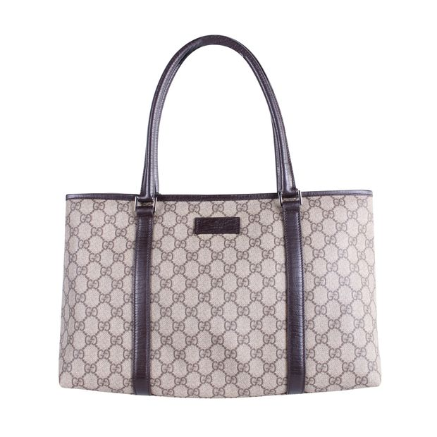 db5a8916be69a4 Logo Canvas Tote Bag by GUCCI   StyleTribute.com