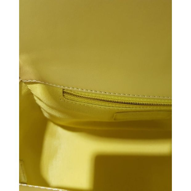 586522a5e22d Top Handle Yellow Calf Skin Bag by CHANEL | StyleTribute.com