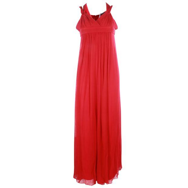 e3edf6f23ab Red Silk Maxi Dress by BCBGMAXAZRIA