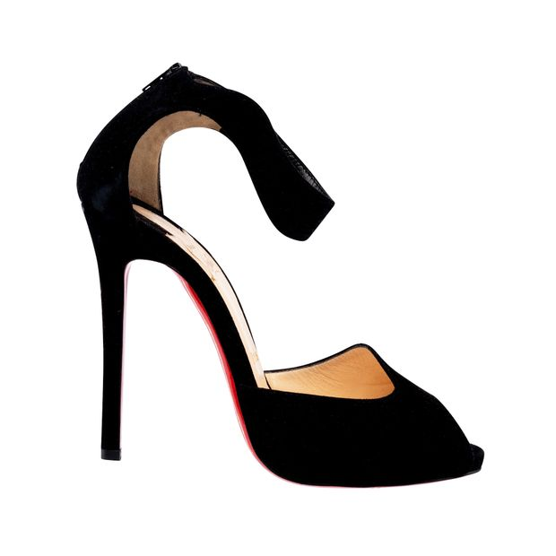 Suede Round Toe Mary Jane Pumps