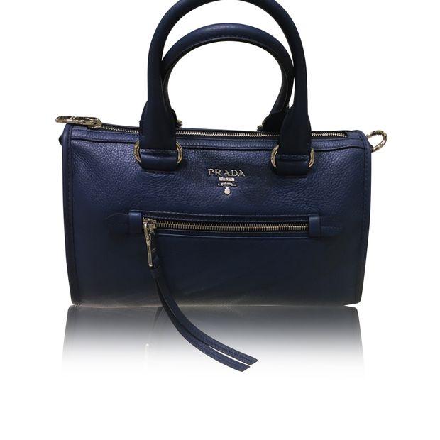 828984fb4c76a PRADA Vitello Phenix Leather Convertible Bag In Cobalto  Bluette 0 thumbnail