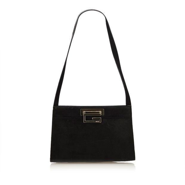 36c6dbdc8d3 Suede Shoulder Bag by GUCCI
