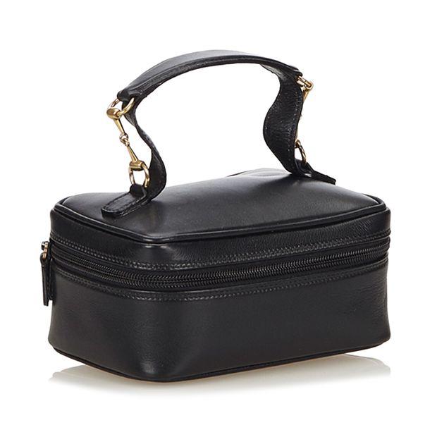 1ba9c62e798 GUCCI Leather Horsebit Vanity Bag 1 thumbnail