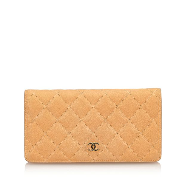 12f61e3223f586 Matelasse Quilted Caviar Wallet by CHANEL | StyleTribute.com