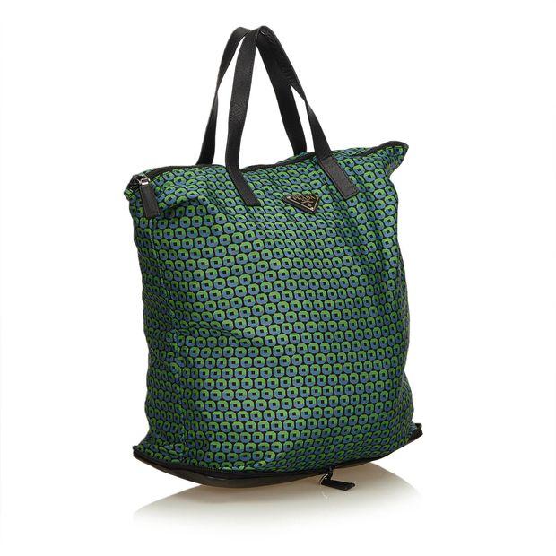 c5219c2fb9 PRADA Printed Nylon Tote Bag 1 thumbnail