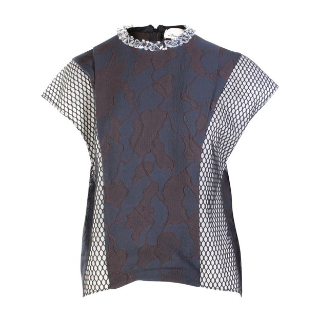 eb1ca86bc83151 Embellished Structural Top by 3.1 PHILLIP LIM | StyleTribute.com
